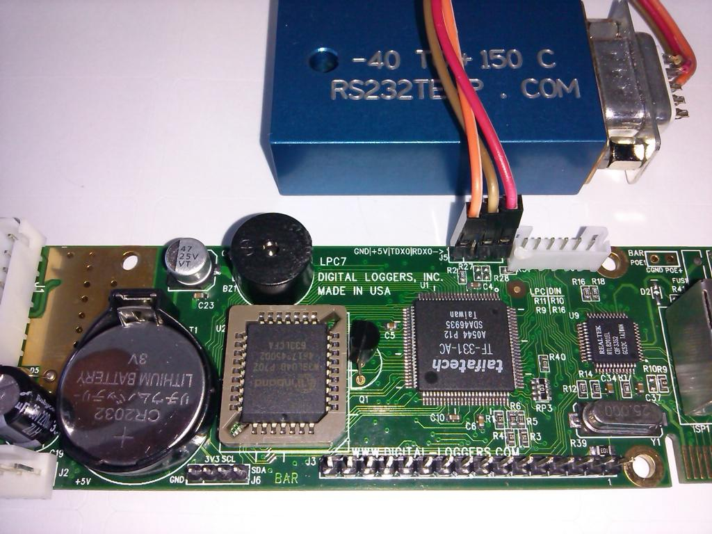 Use the serial port to control routers, modems and other