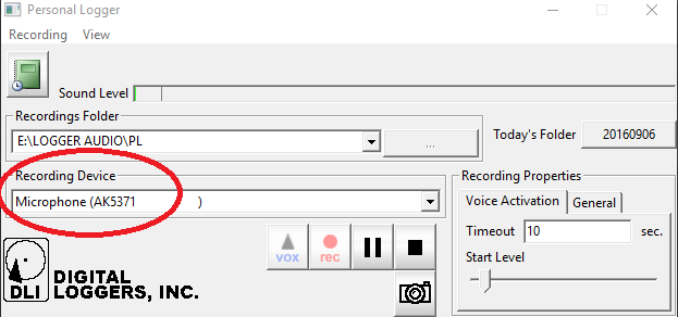 Inc Black DL-USB-LOGGER Call Recorder//Software with USB plug Digital Loggers